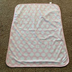 Pink with white dot baby blanket (lowest)